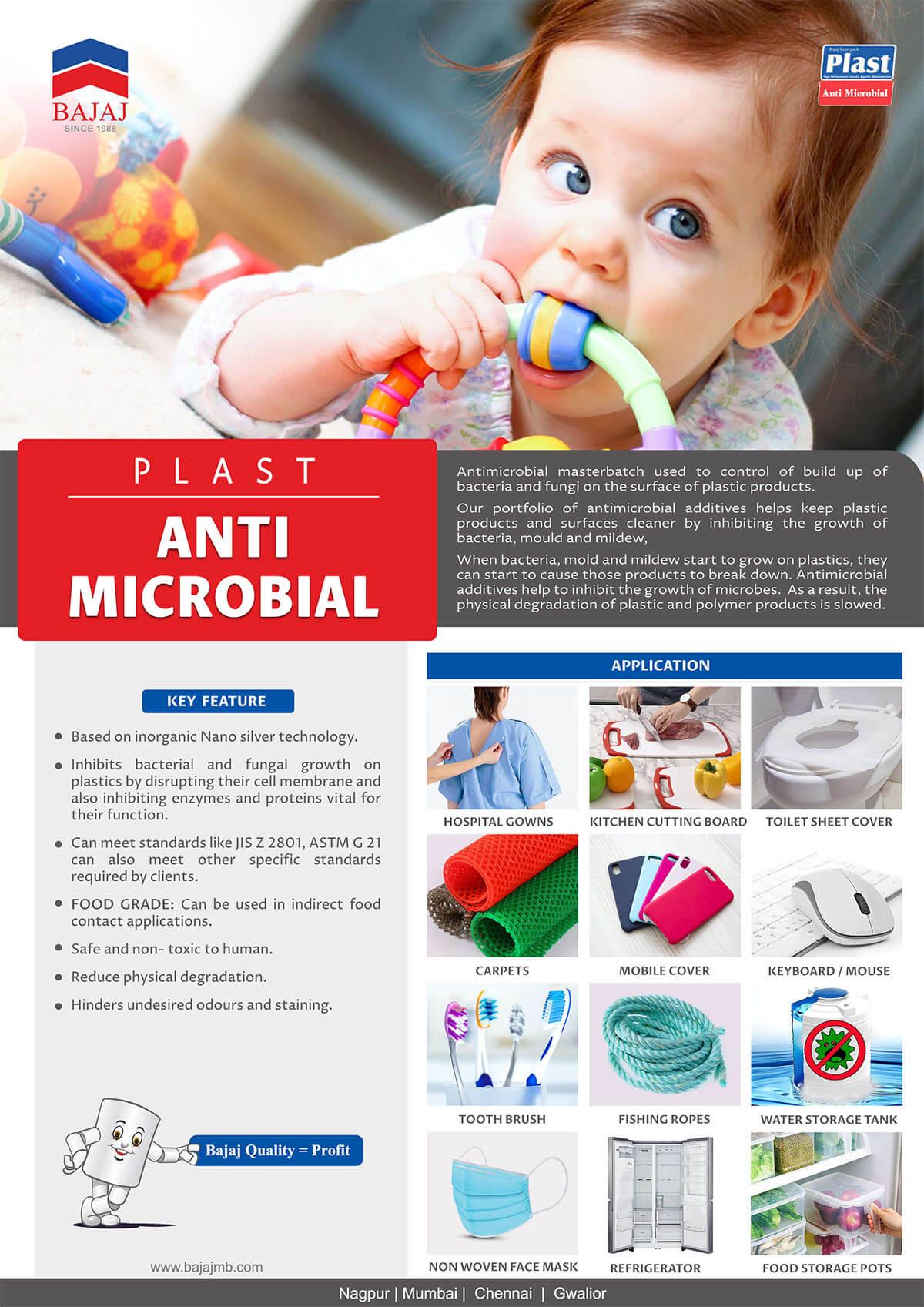 Plast Anti Microbial - Masterbatches Application