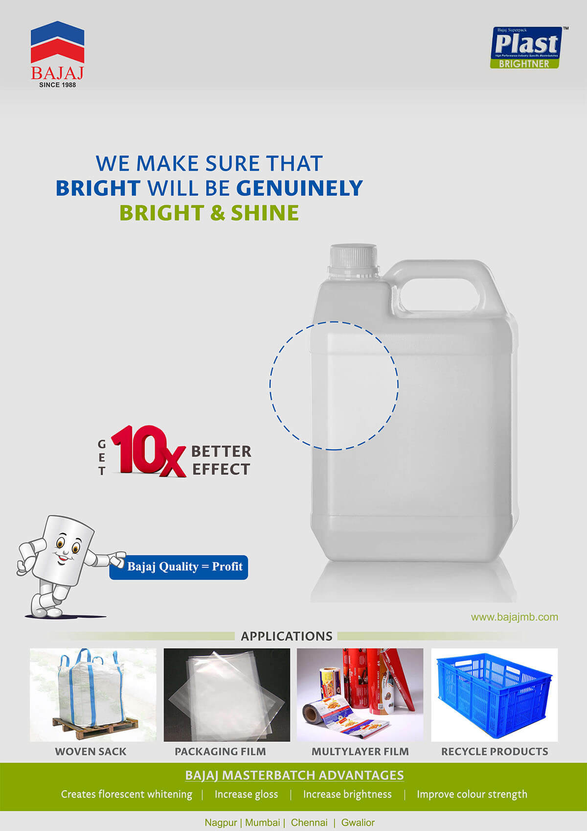 Masterbatches Application - Optical Bright