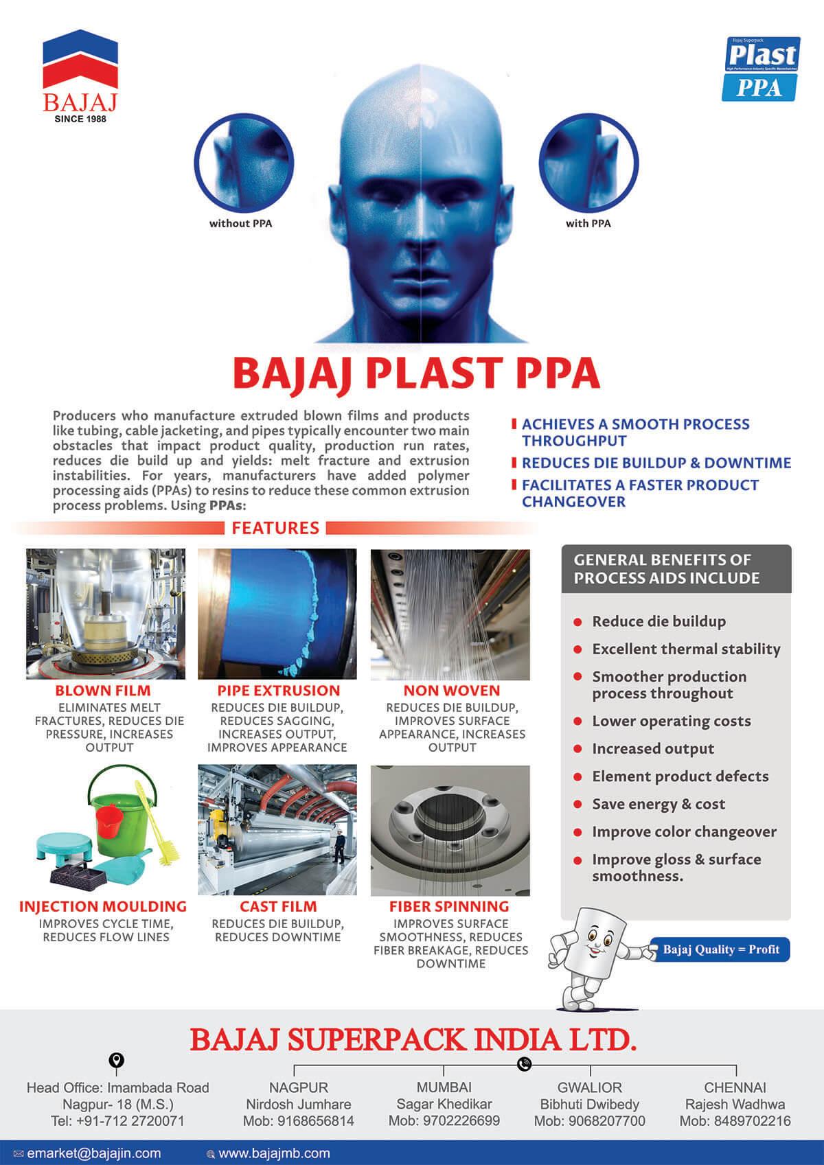 Plast PPA - Masterbatches Application