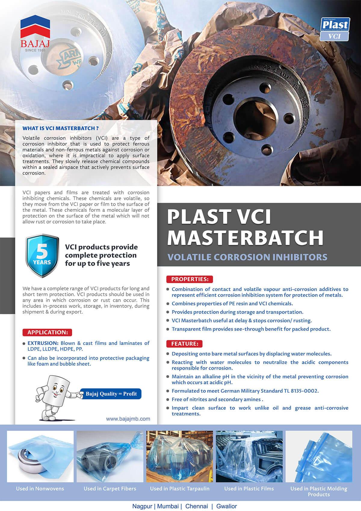 Plast VCI masterbatches - masterbatches manufacturer